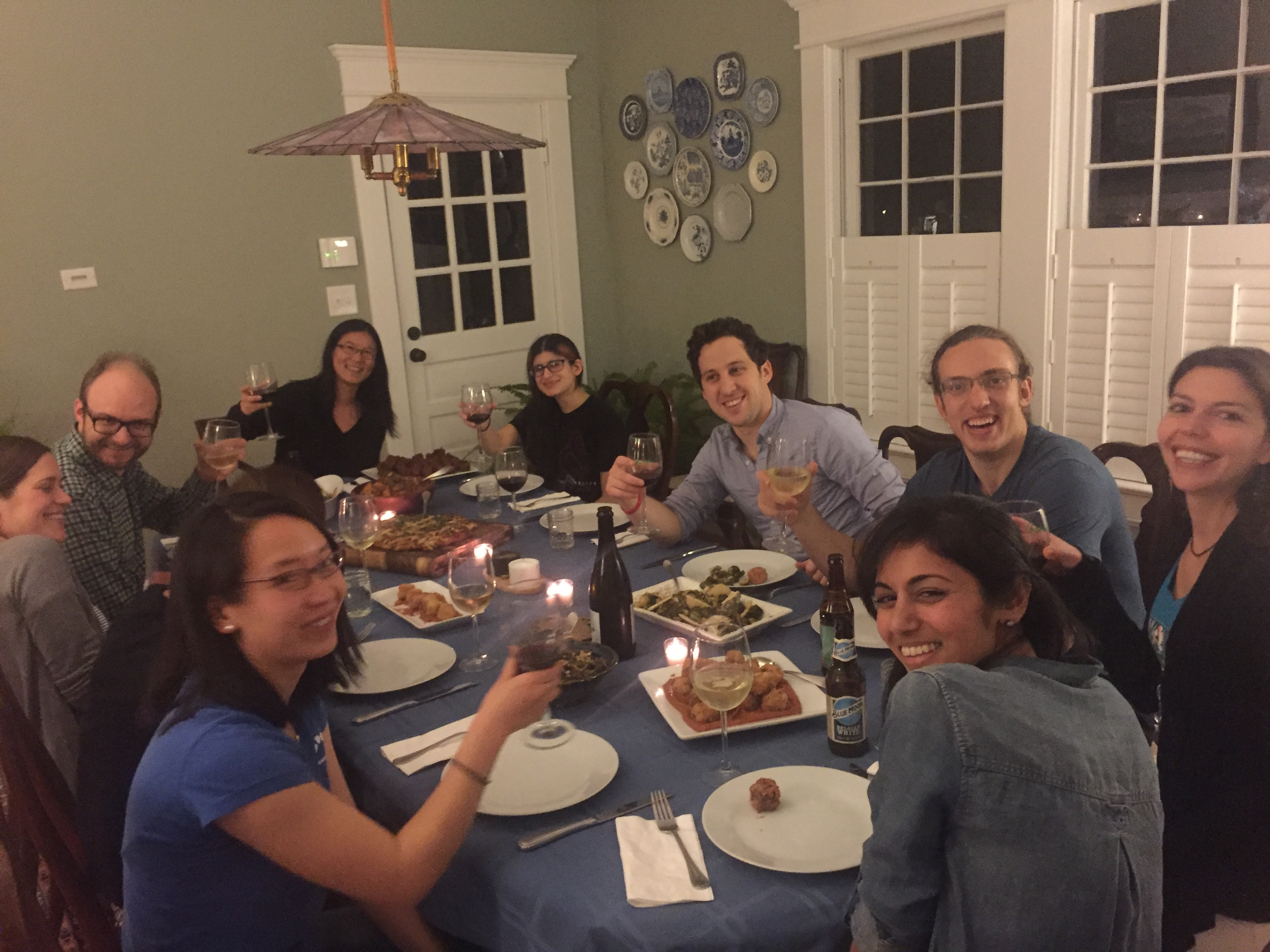 Lab bonding: dinner after a Spanish tapas cooking class, February 2016